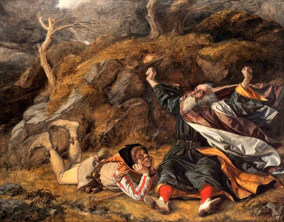 「李爾王和暴風中的弄人」 威廉·戴斯繪