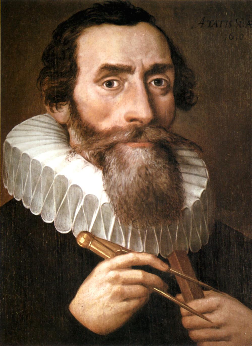 約翰尼斯·克卜勒 1610年肖像畫