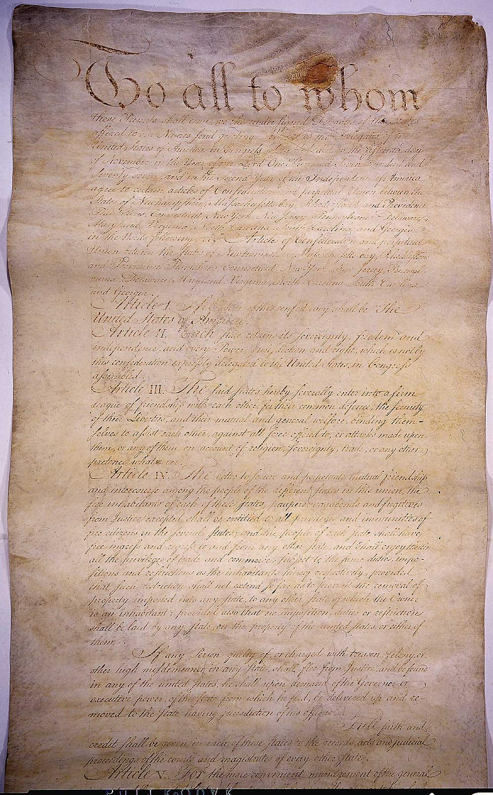 《邦聯和永久聯合條例》