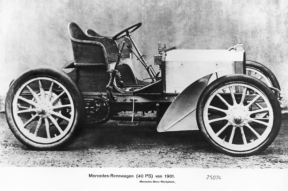 梅巴赫所作 第一輛懸掛Mercedes品牌登場的35hp賽車