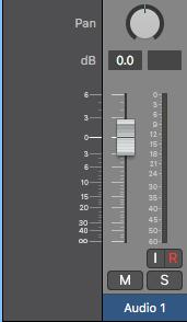 Logic Pro X Volume fader