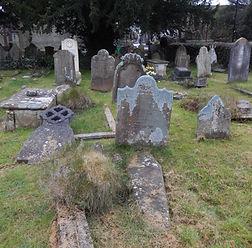 Photo of a church graveyard