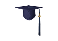 coiffe-toque-universitaire-de-remise-de-diplome-bleu-marine-mate-pompon-medaillon-2020.p