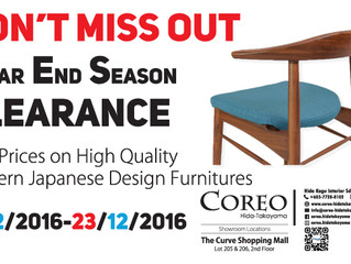 DON'T MISS OUT YEAR END SEASON CLEARANCE 2016