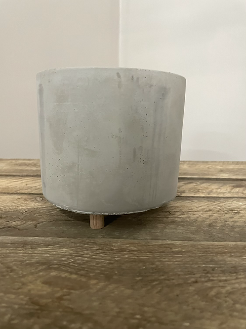 Footed Cement Planter