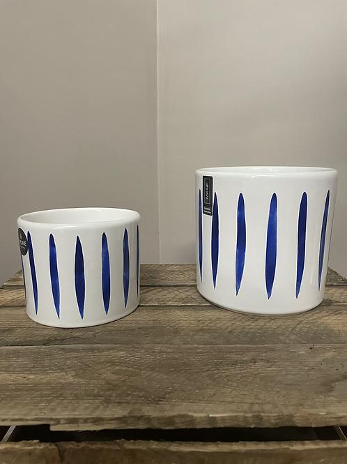 Ocean stripe pot