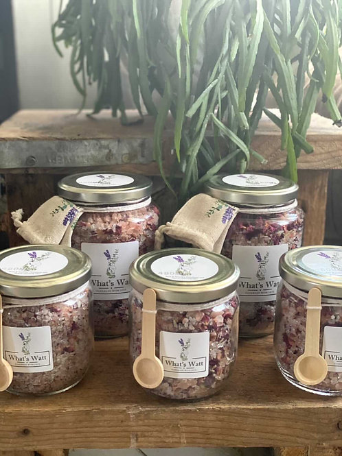 Whats Watt - Rose and Lavender Cleansing Epsom Bath Salts