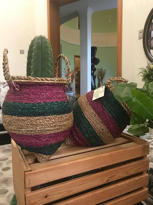 Leaning Woven Planters