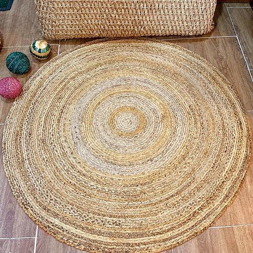 Round Woven Banana Fibre Area Rug