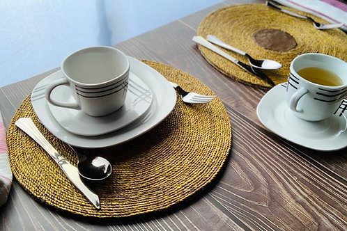 Woven Hyacinth Placemat and Coasters