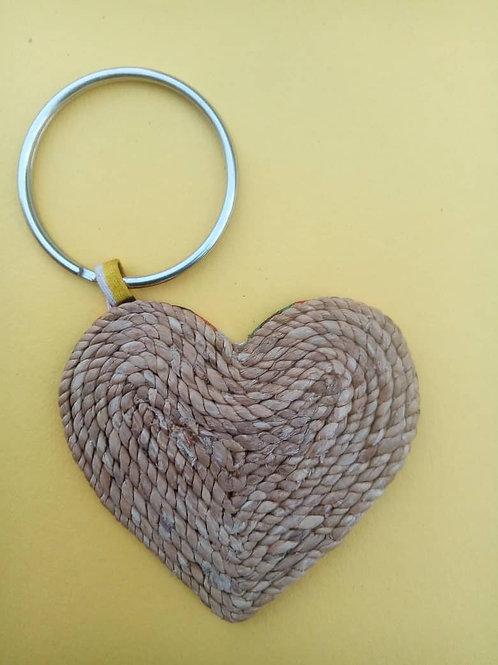Woven Heart Keyring