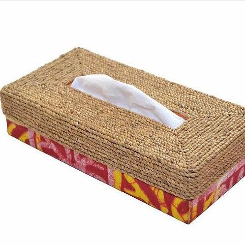 Woven Water Hyacinth Tissue Box