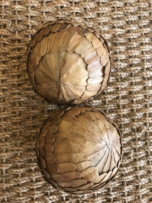 Orbs with Water Hyacinth Scales (Set of 2)