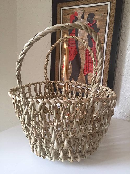 Mini hand baskets (natural fibre)