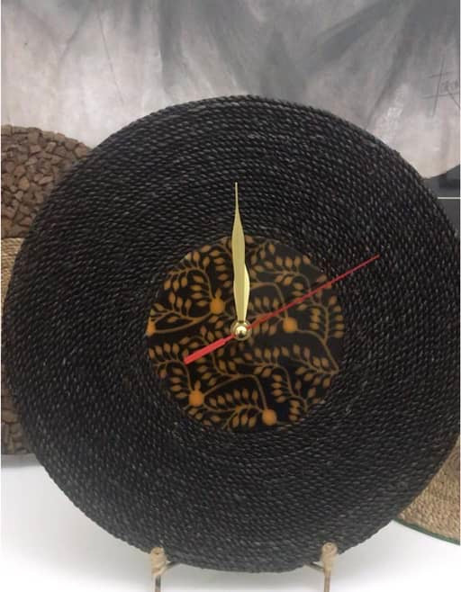 Black Rope Wall Clock.JPG