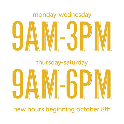 The Mustardseed New Hours Starting Octob
