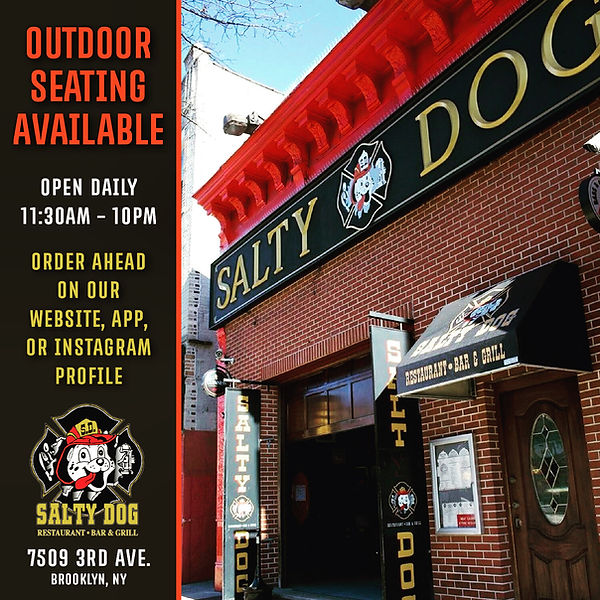 Salty Dog Outdoor Seating Available