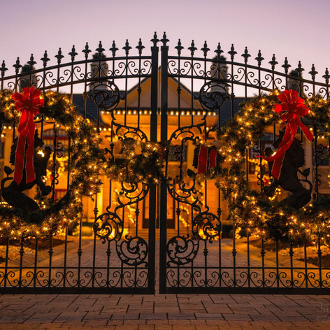 Gate With Decorations