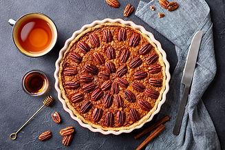 pecan-pie-tart-in-baking-dish-traditiona