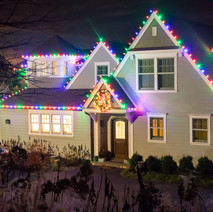 House with Holiday Lights