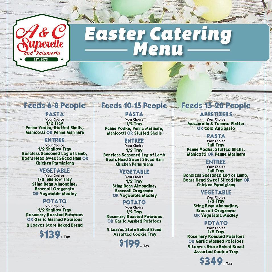 Easter Catering Menu