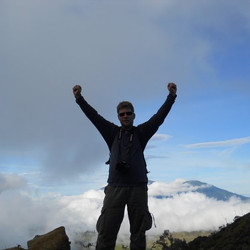 Atop Mt Ijen