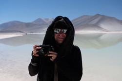Photographer at work in the Atacama
