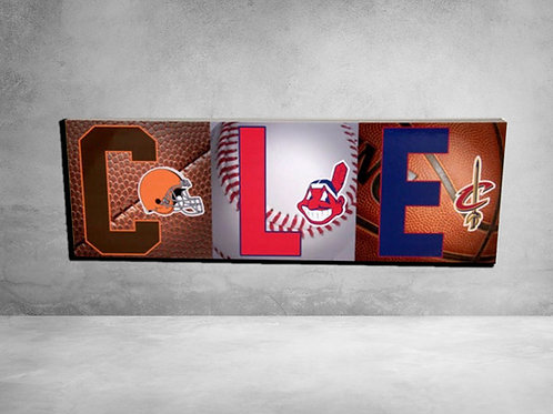 Collection of Cleveland Sports Teams - Cleveland Browns, Cleveland Indians, C