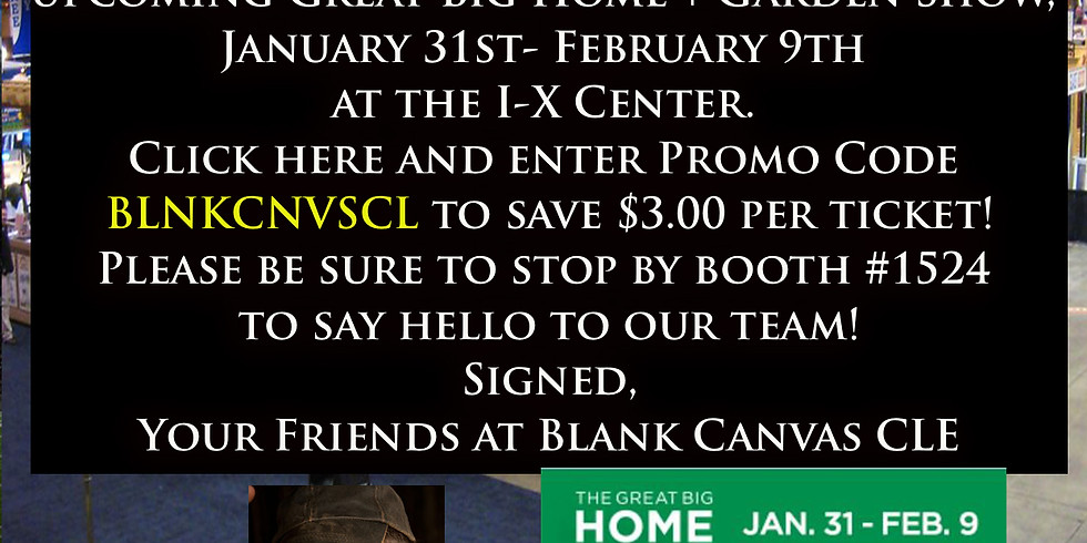 Join us at the upcoming IX center for the Great Big Home and Garden show from Jan.31-Feb.9 2020