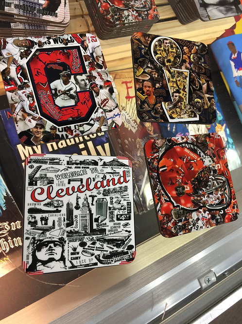 Best of Cleveland Sports Coasters (Set of 4 Ceramic and Cork Coasters)