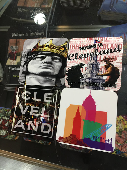 Best of Cleveland Coasters (Set of 4 Ceramic Coasters)