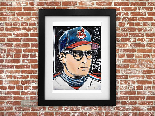 Major League Wild Thing Ricky Vaughn 80s LIMITED EDITION Print Paper Canvas Sign