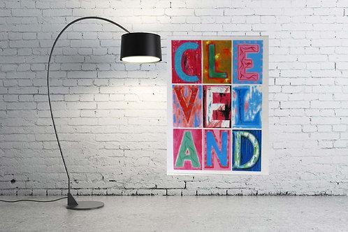 Cleveland Pastel Letters