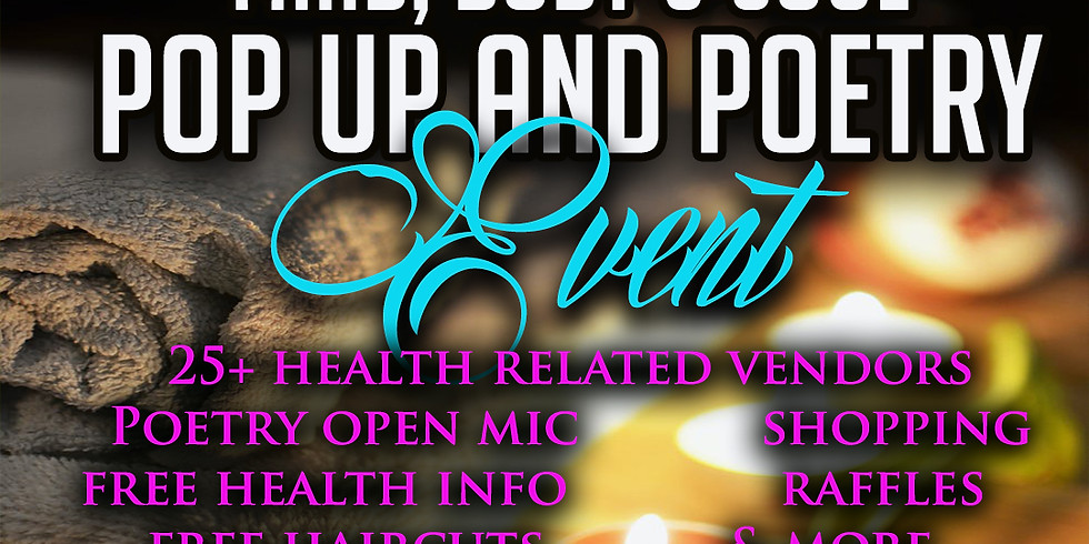 Mind, Body and Soul Pop Up and Poetry Event