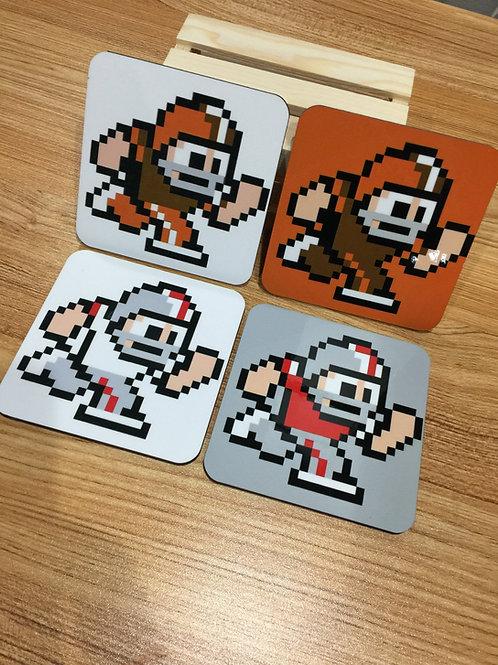 Cleveland Browns / Ohio State Buckeyes Coasters Home Team / Away Team 8 -Bit (Se