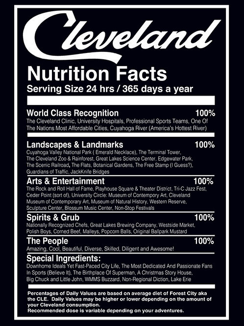 Cleveland Nutrition Facts