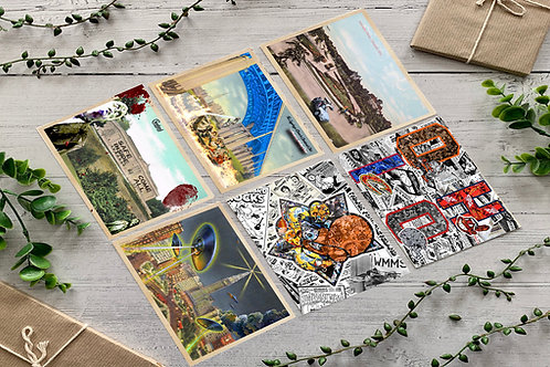 Pack of 6 - Collector Edition Cleveland themed Altered History Postcards, Print