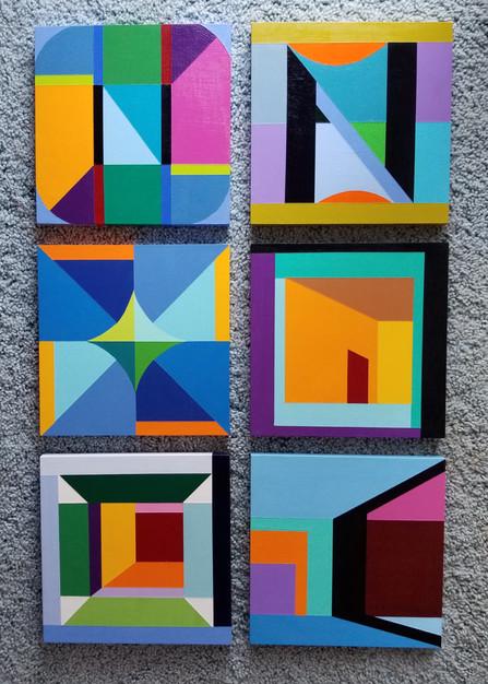 #1-#6  Wood Panels