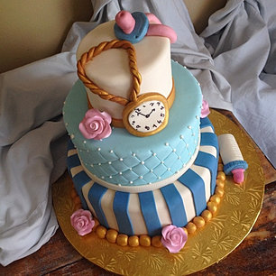 Alice And Wonderland Baby Shower Cake_ Yup, Thatu0027s A Pacifier On Top For  Anyone Wondering