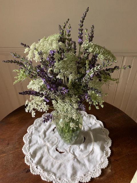 Lavender Bud Vase Arrangement I Designed