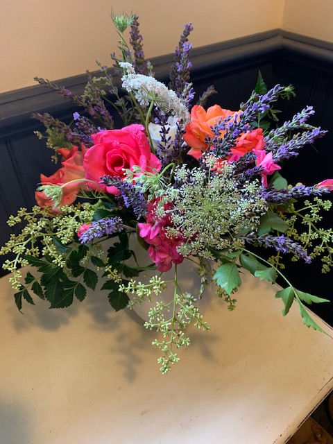 colorful lavender arrangement I designed