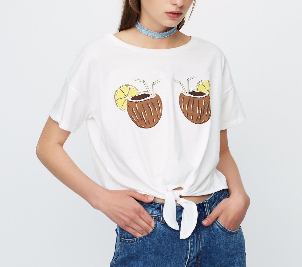 t-shirt con cocco