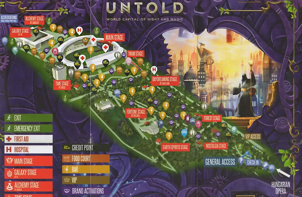 mappa del festival UNTOLS