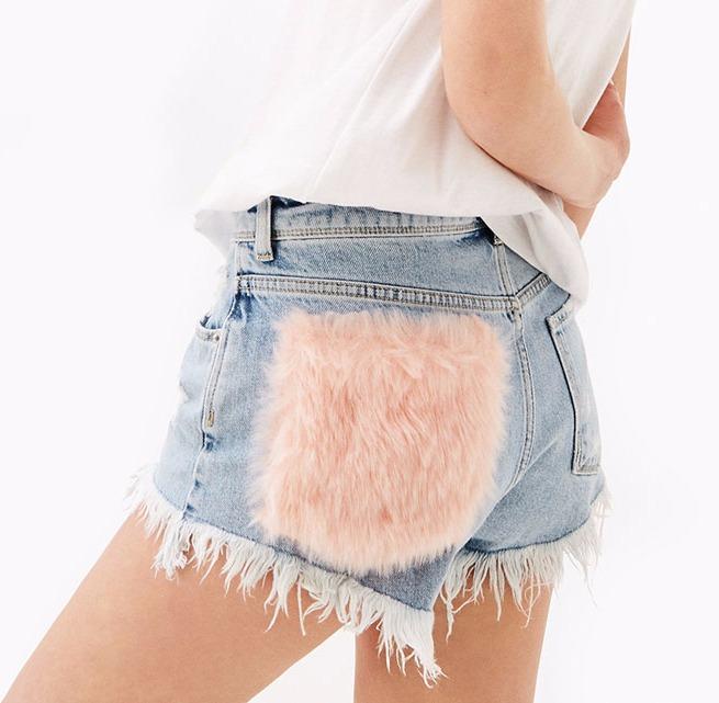 shorts con pelo