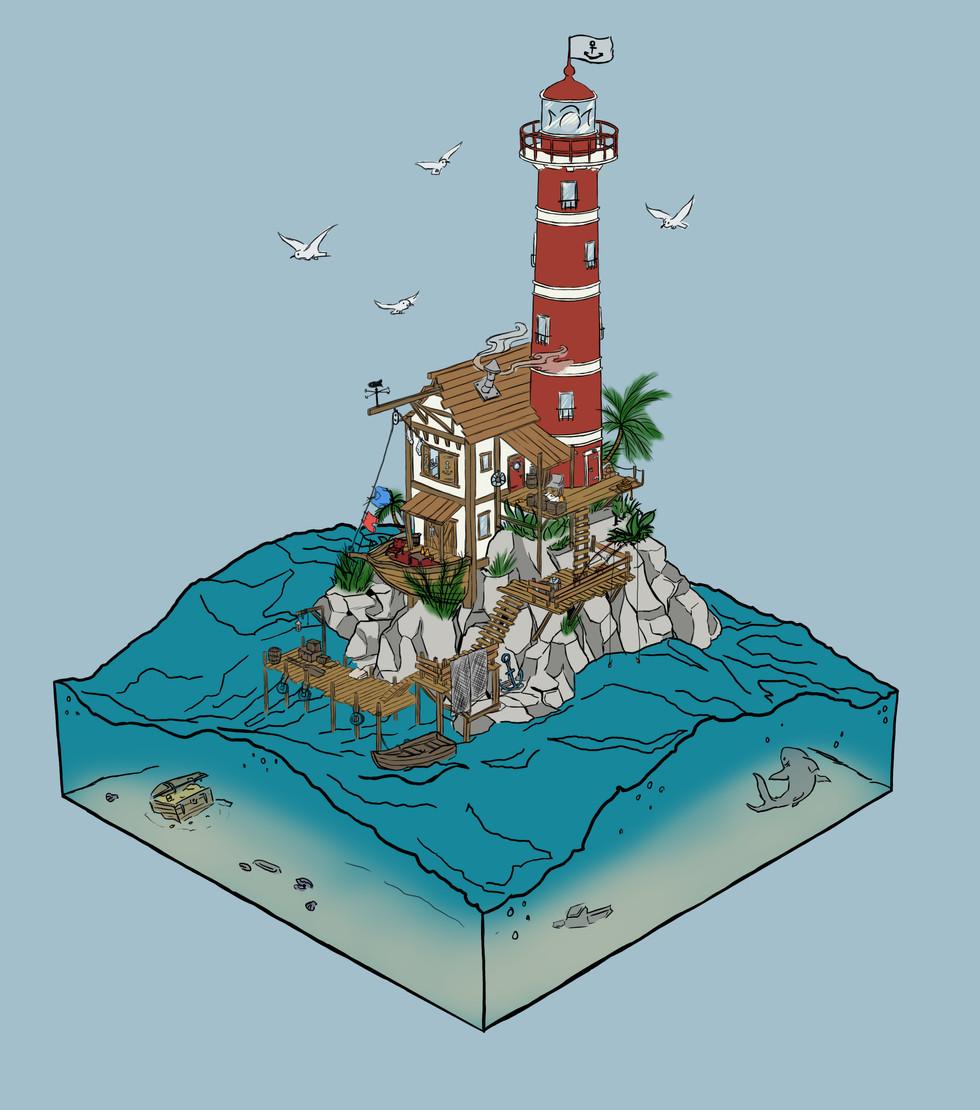 Shipwreck Island Concept Sketch