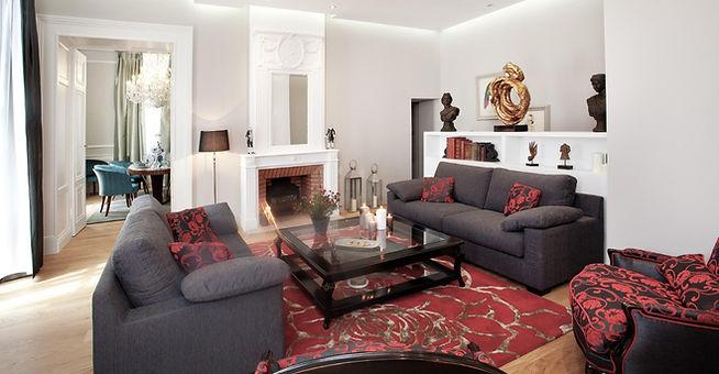 décoration moderne salon château