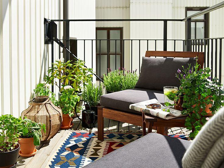 décoration balcon plantes