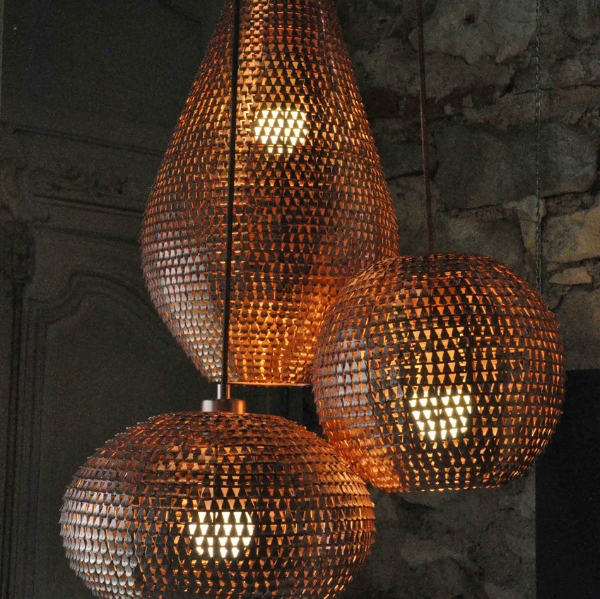 Luminaires cuivre or rose