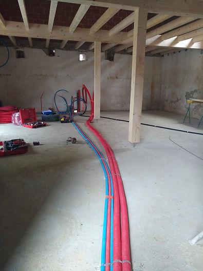 chantier gaines eau électricité