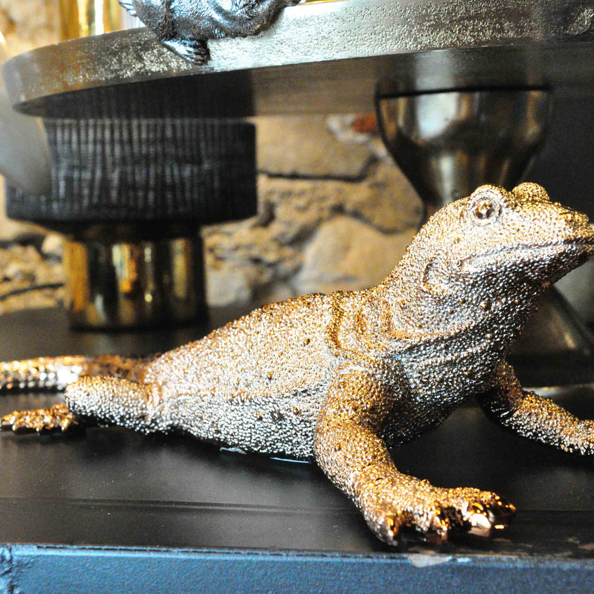 décoration iguane lézard diamant brillant